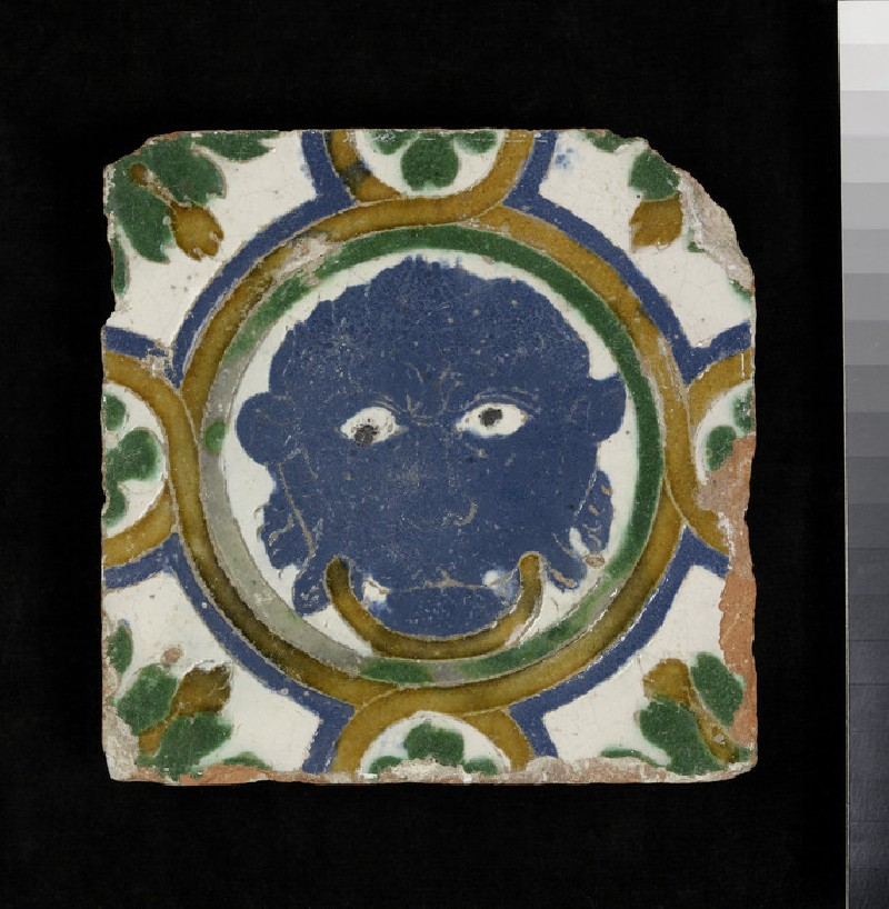 Arista tile with a mask (WA1994.45.6)