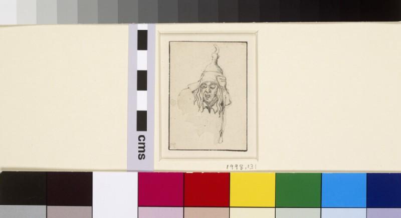 Head of a Man shouting, after Schongauer