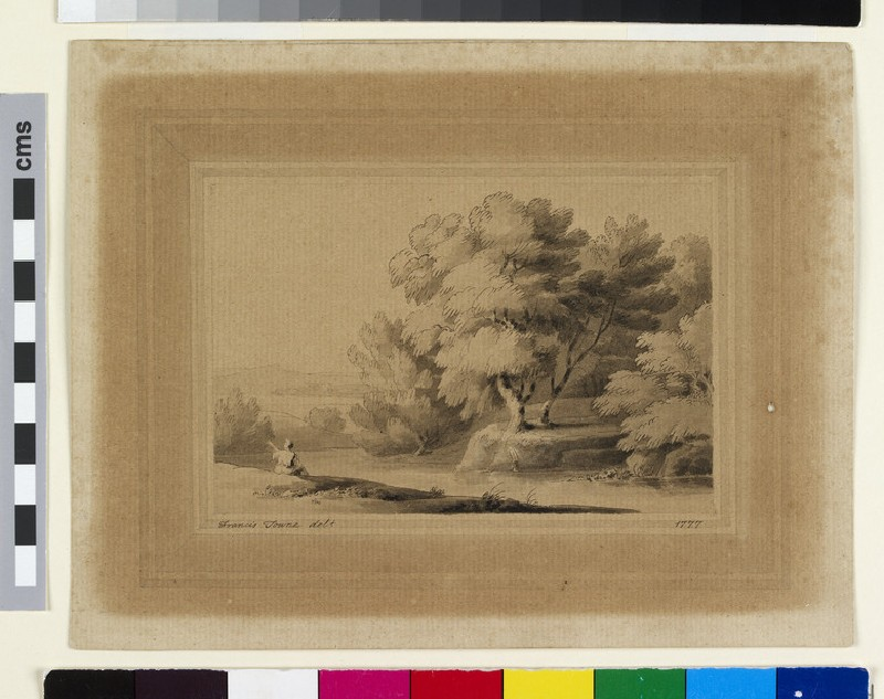 Landscape with a Figure seated by a River