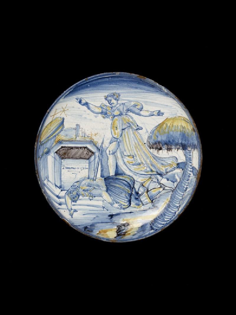 Bowl with Pyramus and Thisbe (WA2002.39)