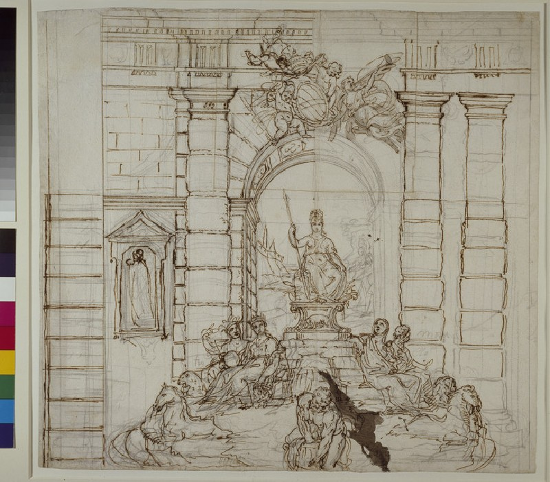 Study for the Trevi Fountain