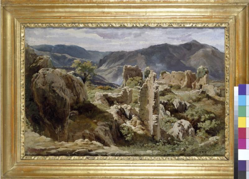 Ruins in the Colli Albani (WA2003.139)
