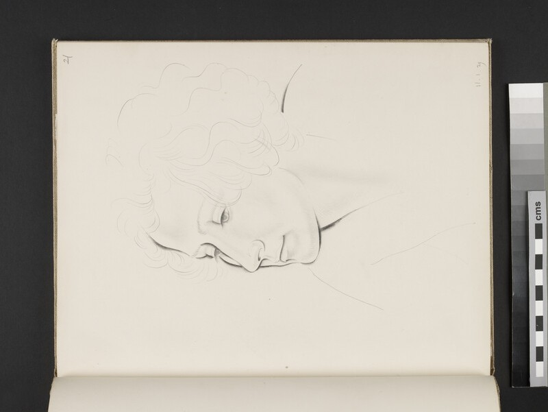 Study of a female head turned three-quarters towards left (WA2003.197.21)
