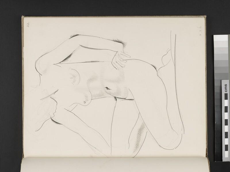 Kneeling female nude facing towards left (WA2003.197.22)