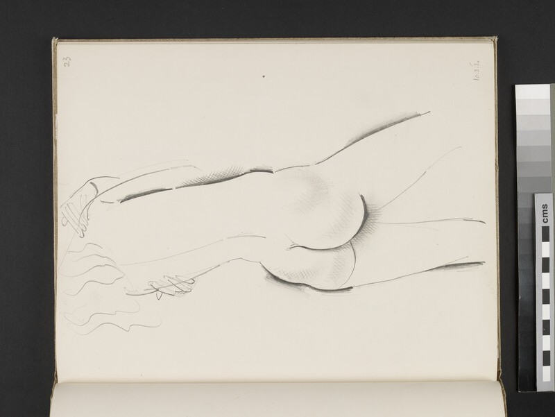 Standing female nude seen from the rear (WA2003.197.23)