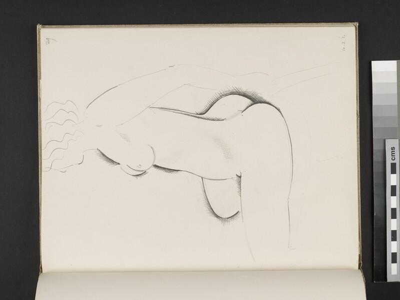 Seated female nude facing towards left (WA2003.197.29)