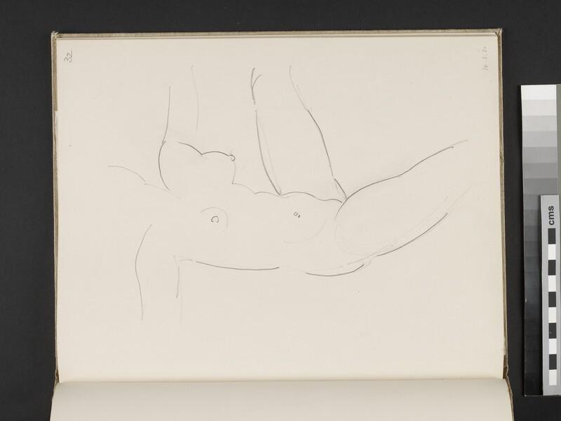 Female nude with left leg raised (WA2003.197.32)