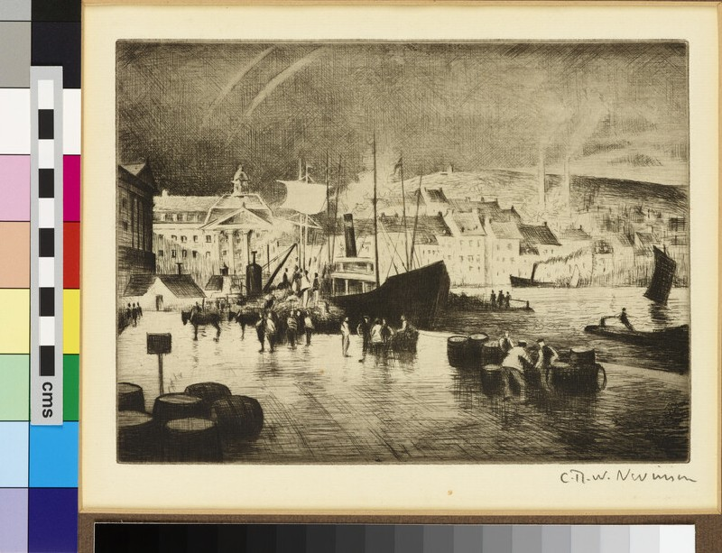 French harbour, possibly Boulogne