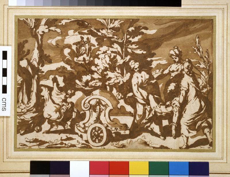 Armida having Rinaldo's body placed in her chariot (WA2003.98)