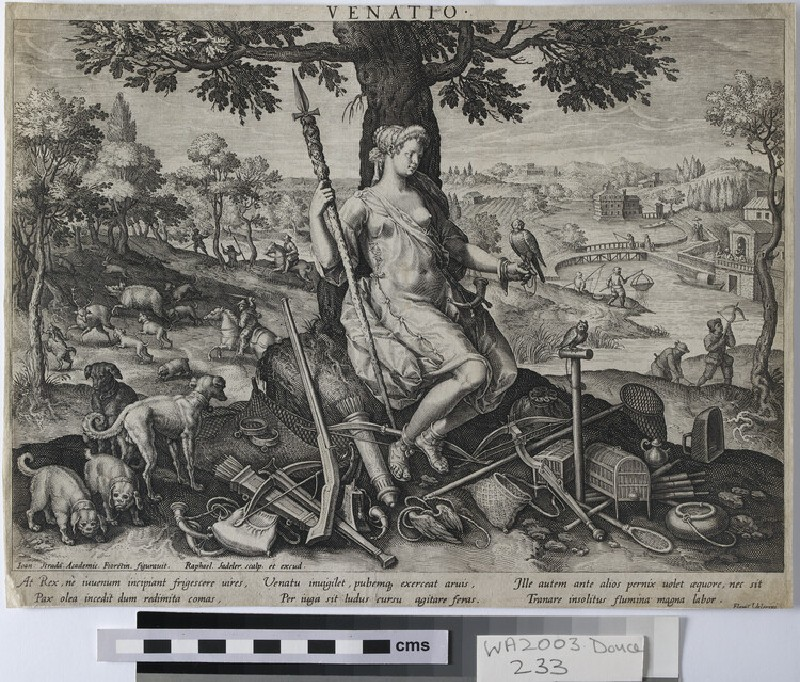 Venatio, the personification of hunting (WA2003.Douce.233)