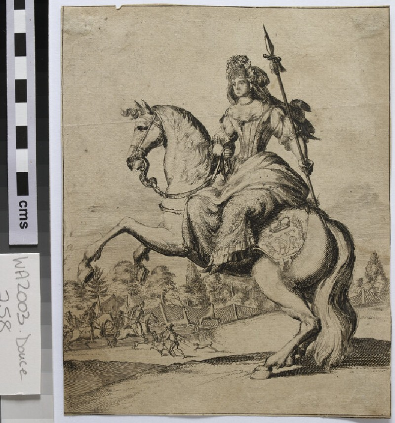 Noble Lady on a deer hunt
