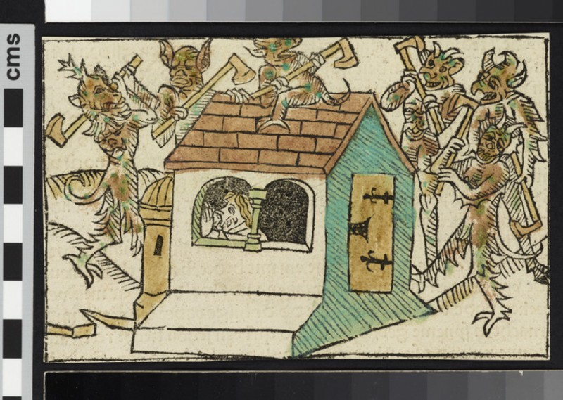 Devils Tormenting Abraham in His Cell