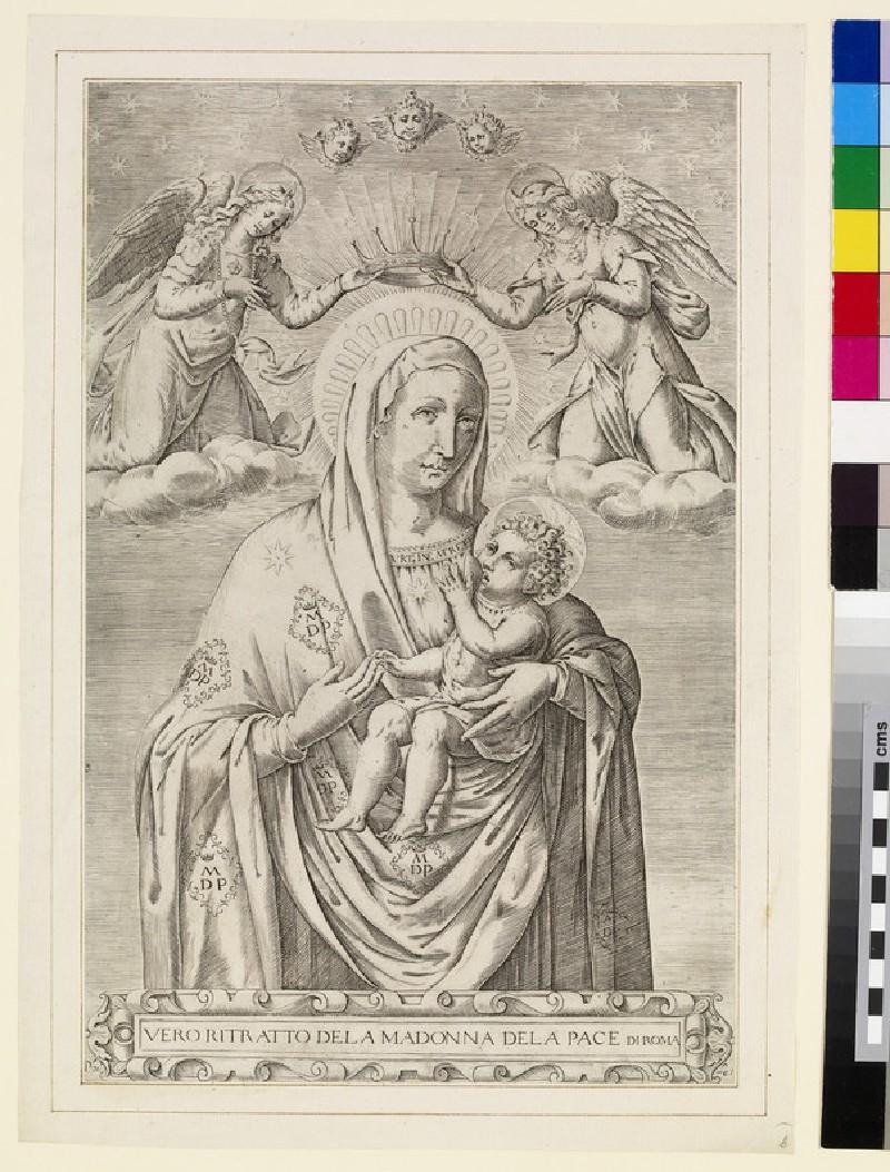 Vero ritratto dela Madonna dela Pace di Roma (WA2003.Douce.1309)