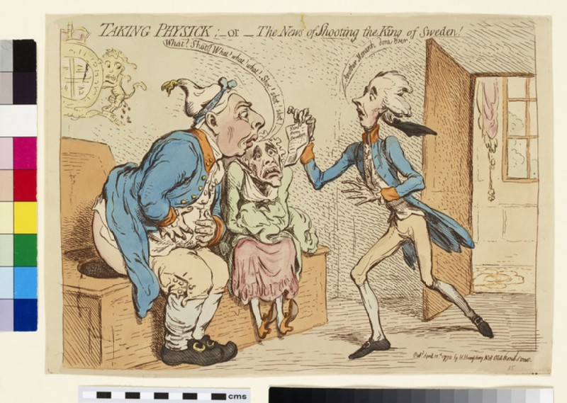 Taking Physick: -or- the news of shooting of the King of Sweden!