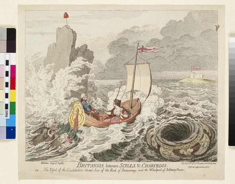 Britannia between Scylla and Charybdis