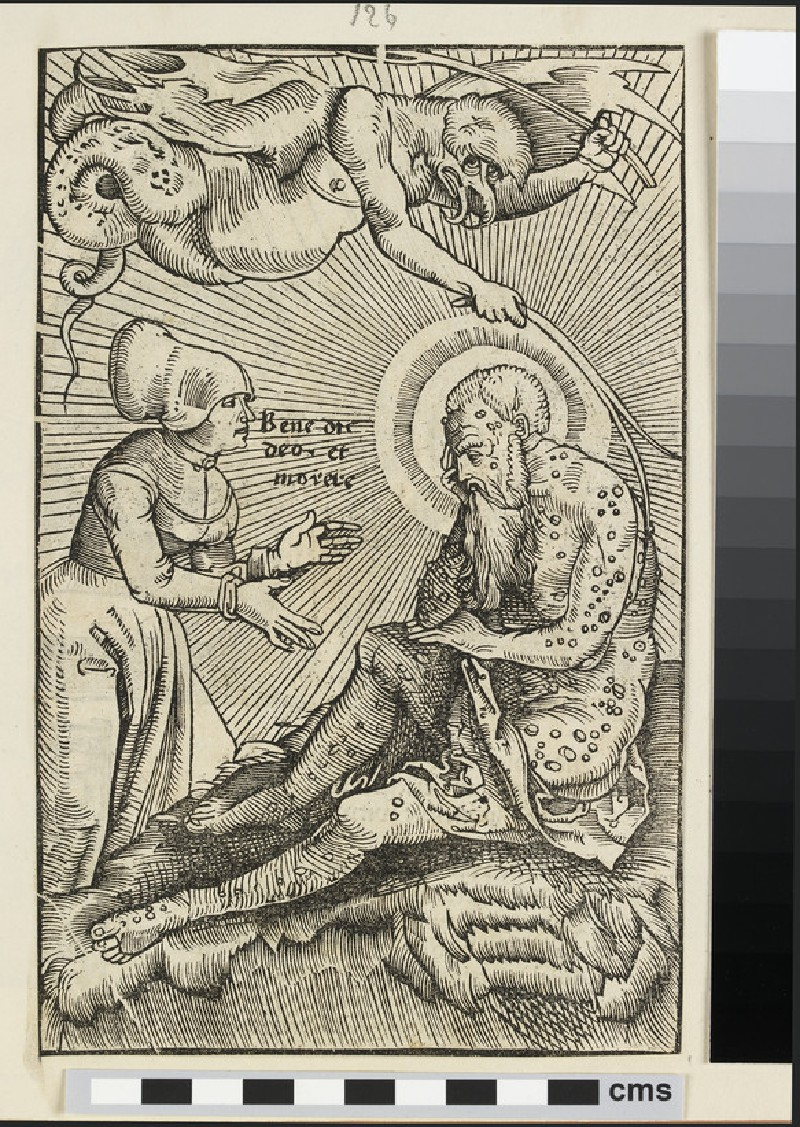 Recto: Job Smited with Boils  Verso: Judith with the Head of Holofernes