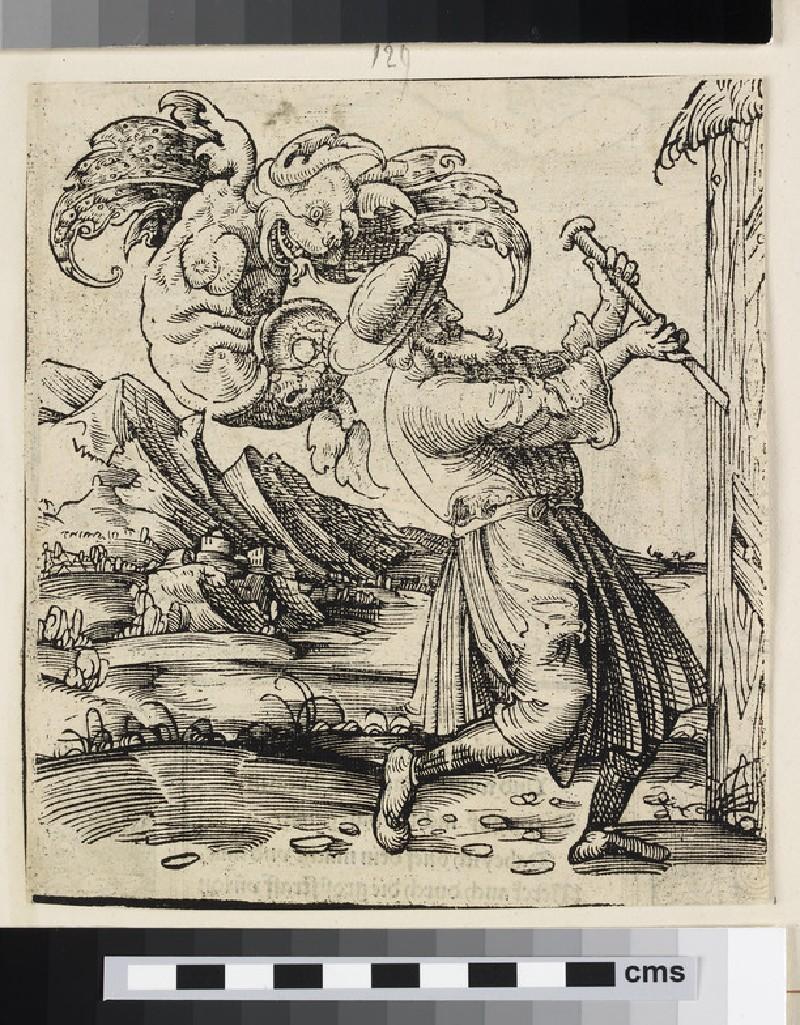 Recto: Man and demon Verso: Paradise