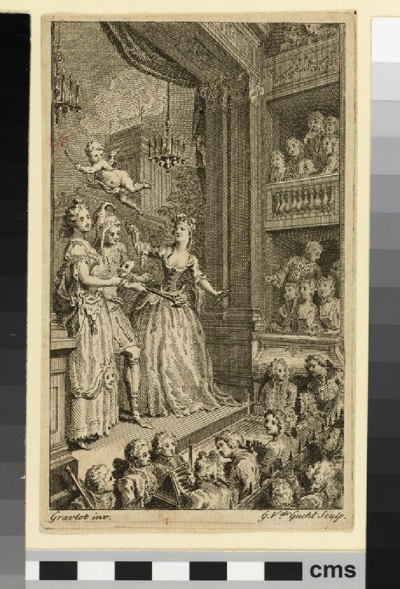 Allegory of the Theatre: frontispiece to 'The Beauties of the English Stage', vol. I, London (WA2003.Douce.5826)