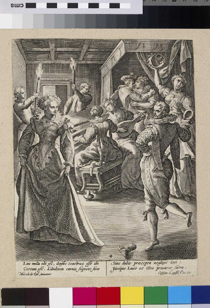 The Foolish Virgins dancing and playing music (WA2003.Douce.5831)