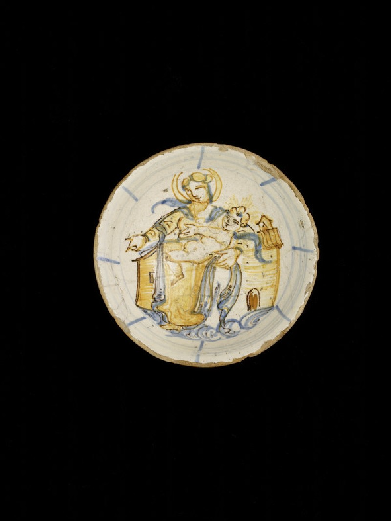 Drinking bowl with the Madonna of Loreto