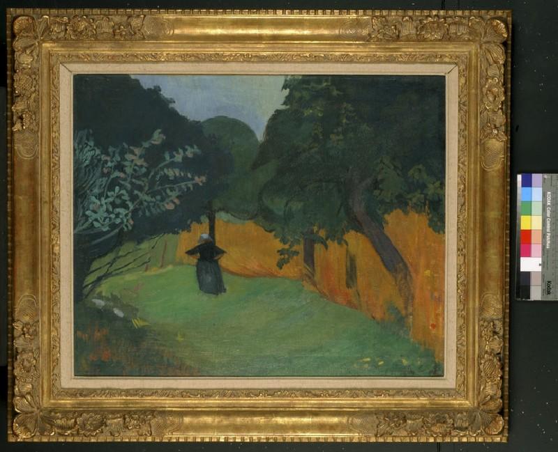 Breton Woman in meadow