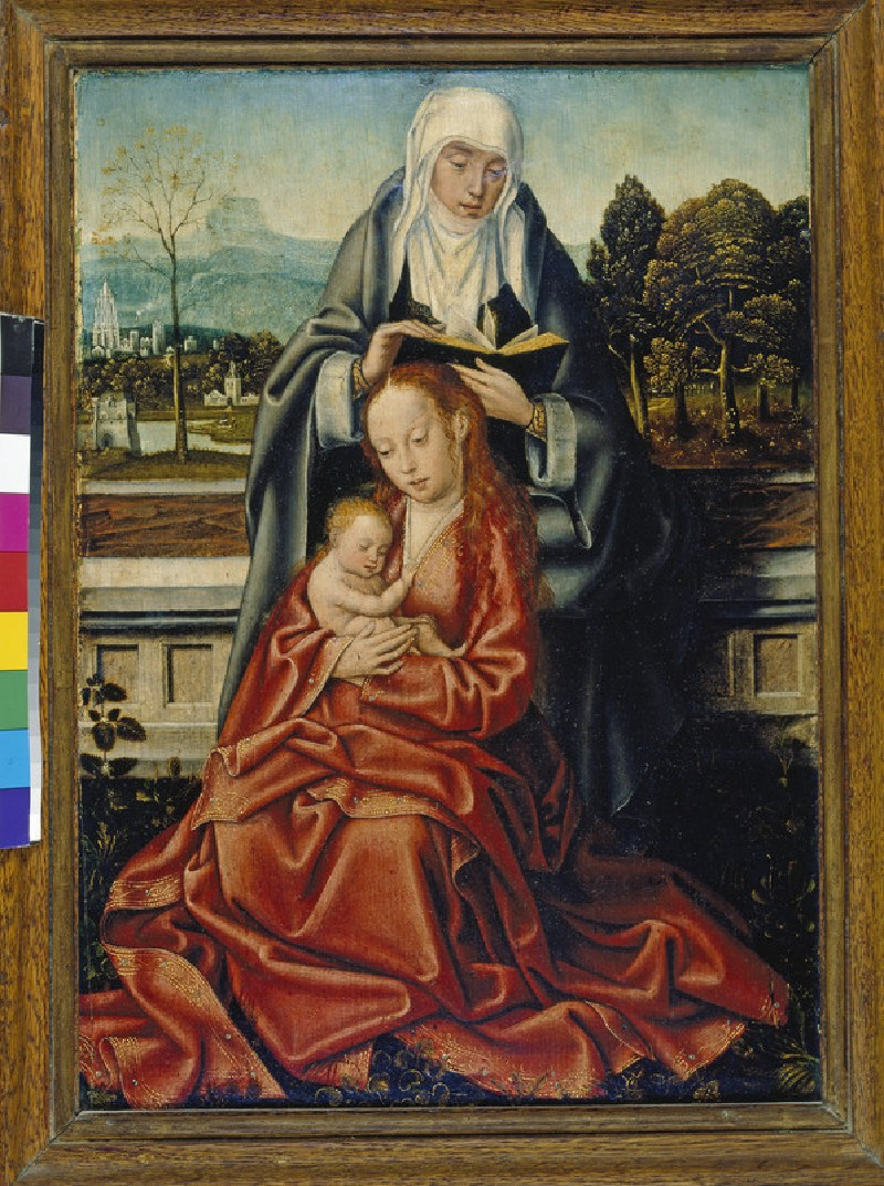 The Virgin and Child with St Anne (WA2005.28)