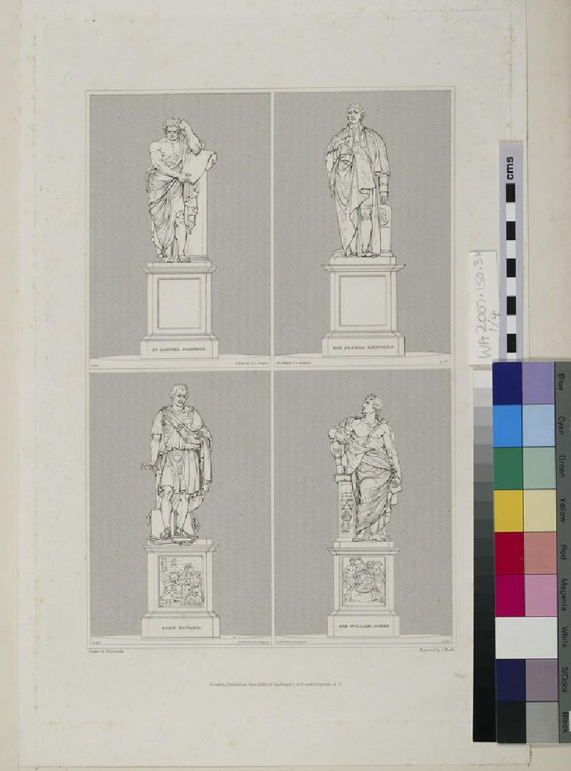 Monuments to Samuel Johnson, Joshua Reynolds, John Howard and Sir William Jones (WA2007.150.30)