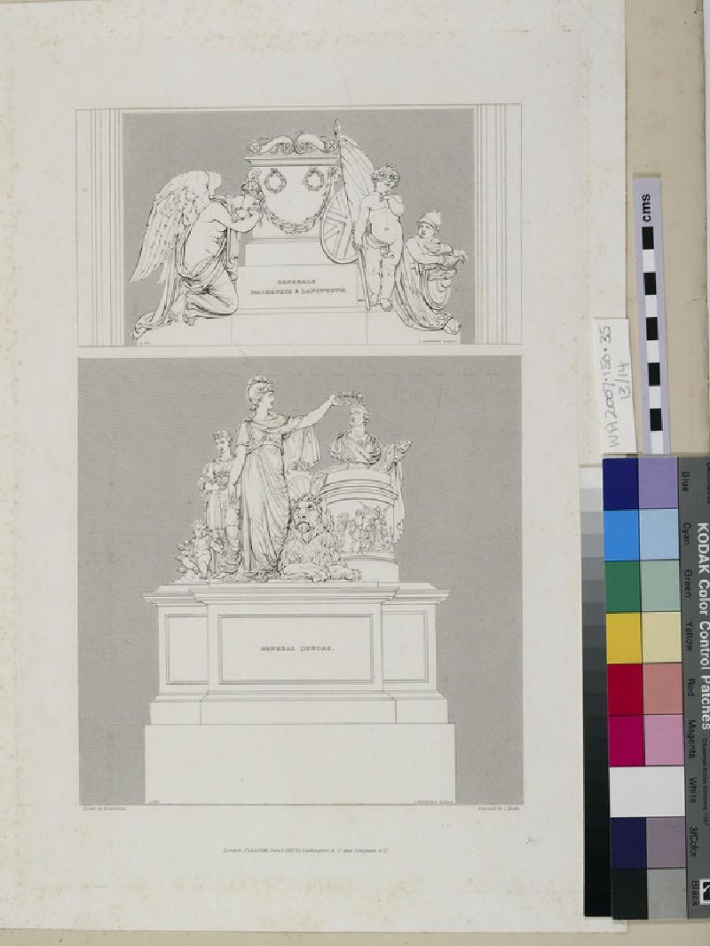 Monuments to Major-General Mackenzie and Brigadier-General Langwerth, and Major-General Thomas Dundas (WA2007.150.35)