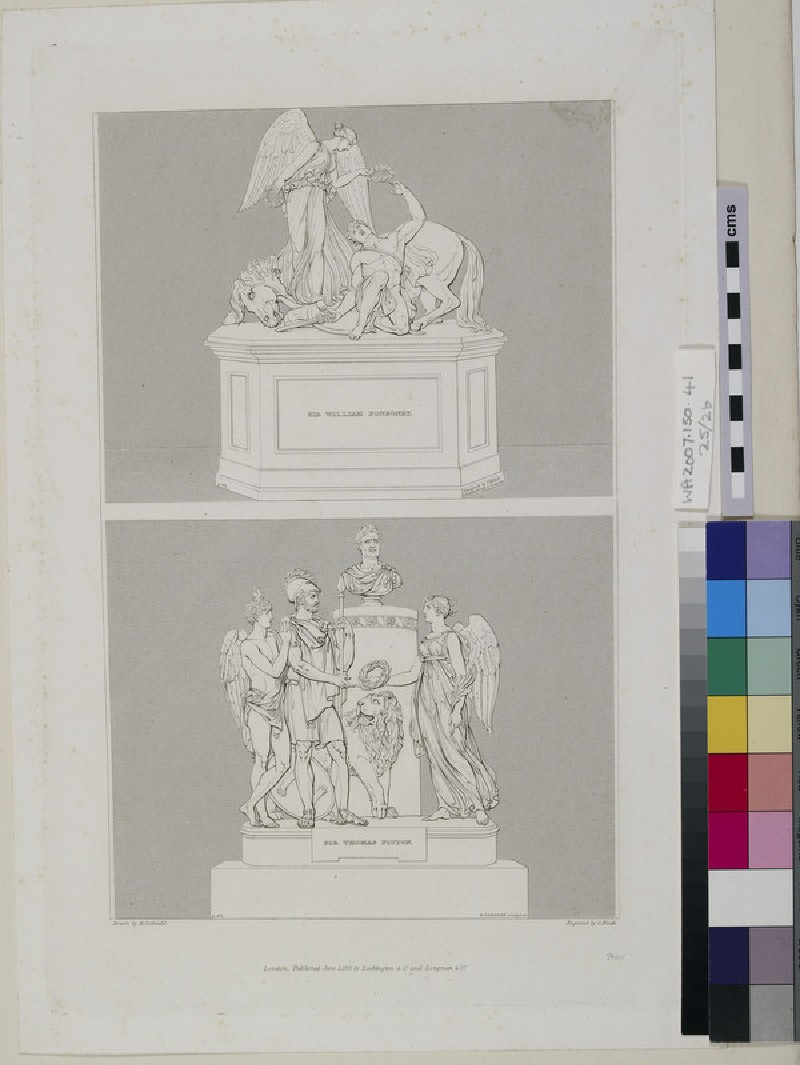 Monuments to Major-General Sir William Ponsonby and Sir Thomas Picton (WA2007.150.41)