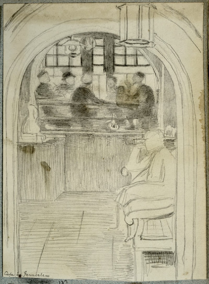 Study of the Interior of a Cafe