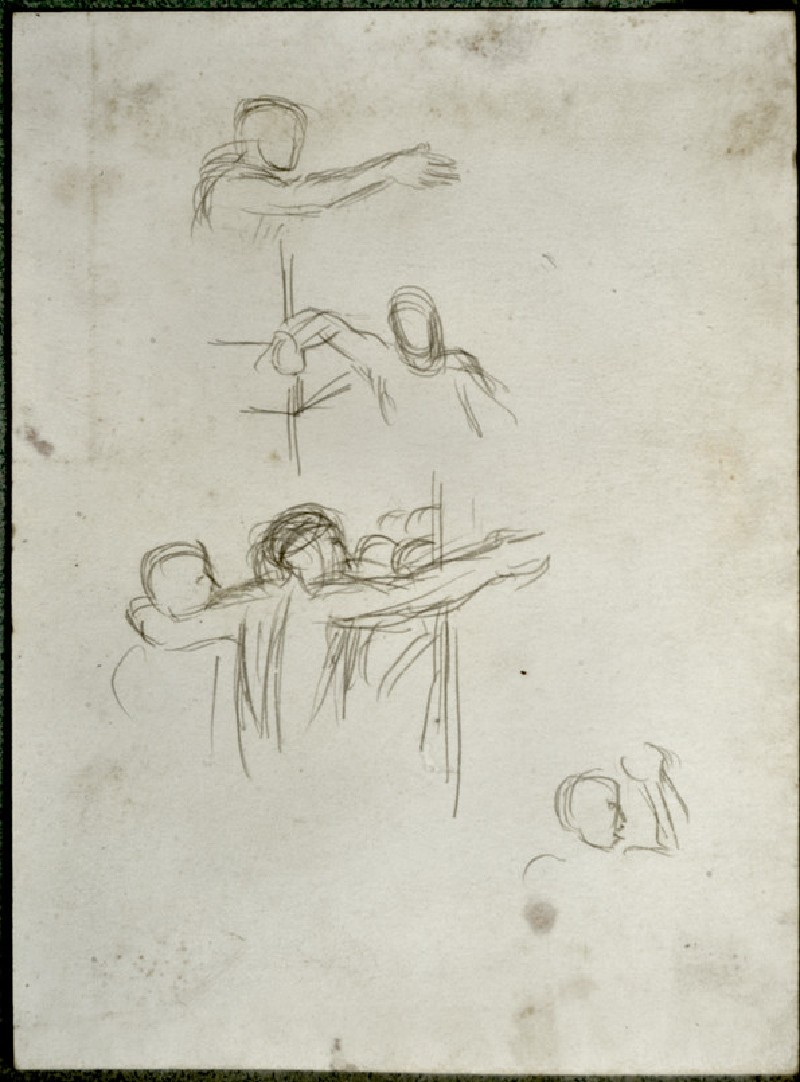 Studies of Figures in the Church of the Sepulchre, Jerusalem