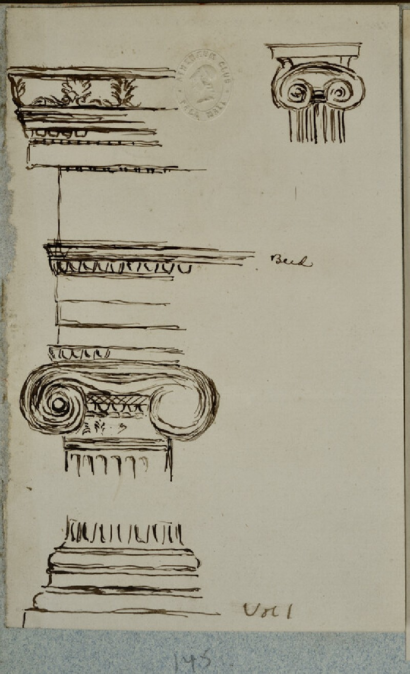 Sketch of a Column and Pediment (WA2007.6.137)