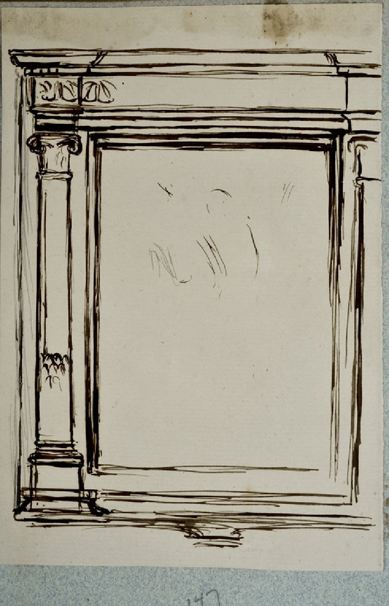 Study for a Pediment Frame