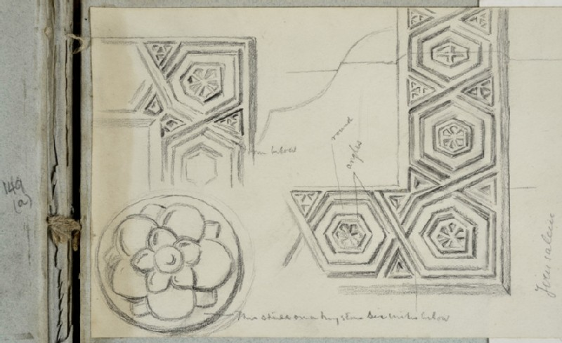 Study of hexagonal Motifs related to the Design of the Frame for 'The Shadow of Death' (WA2007.6.142)