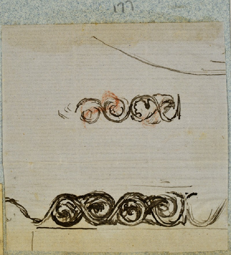 Fragment of a Frame Design: Two Guilloche Friezes