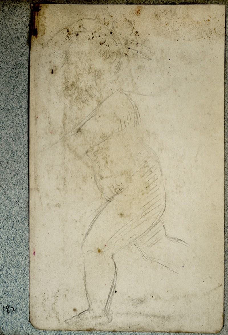 Study of a Naked Child in Movement