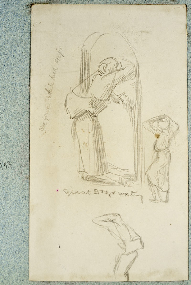 Study of a Figure in a Doorway, and two Figure Studies (WA2007.6.189)
