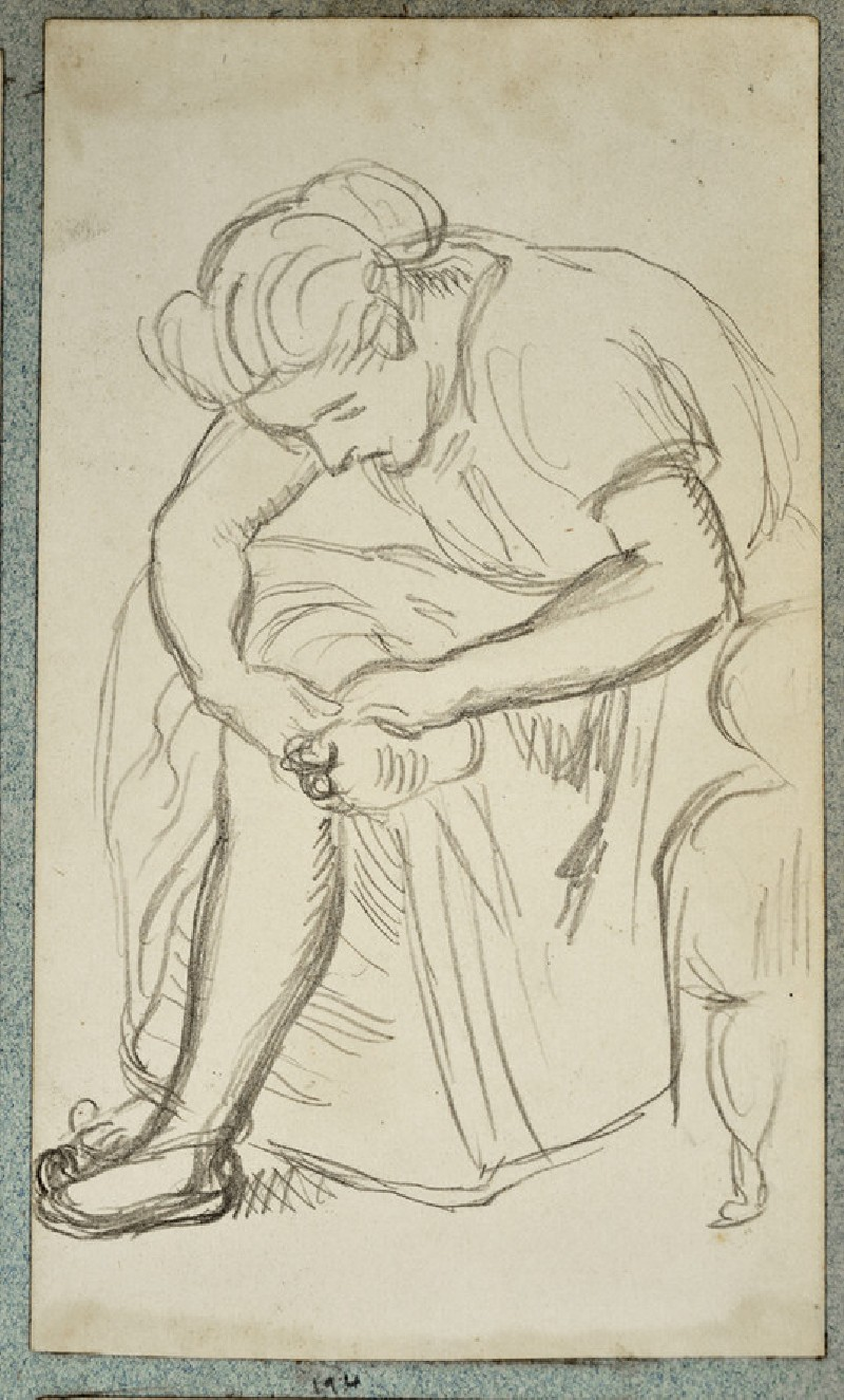 Study of a Woman in an Armchair, examining her Foot (WA2007.6.190)