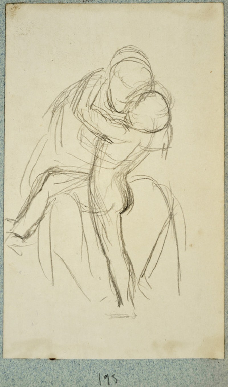 Study of a Boy embracing a Woman