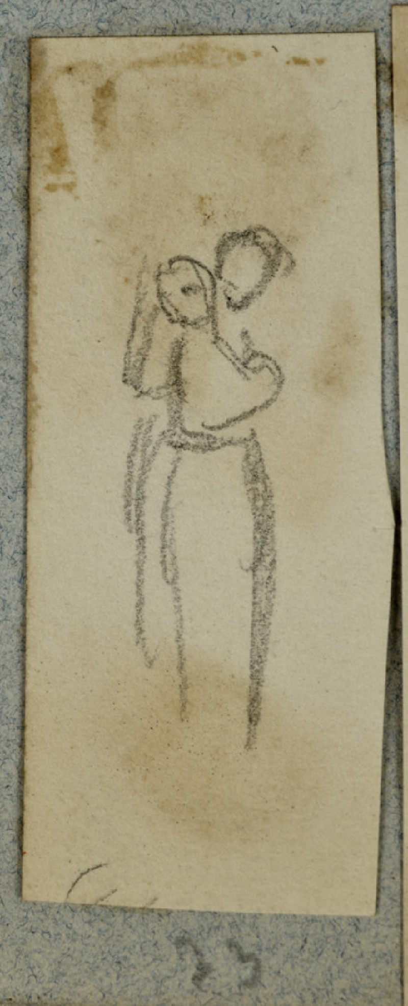 Woman in Mediaeval Costume looking into a Hand Mirror