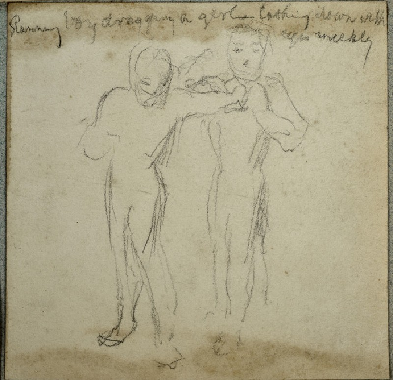 Study of two Figures, One reaching to grab the Other (WA2007.6.26)
