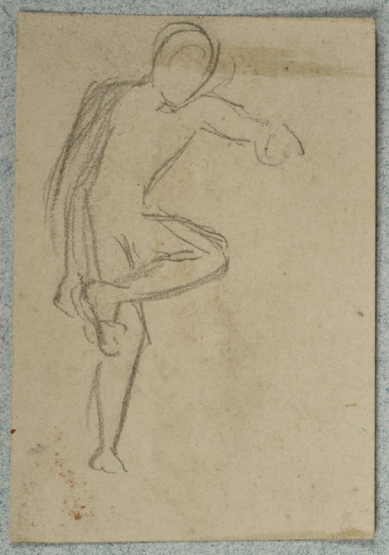 Male Nude examining his Foot