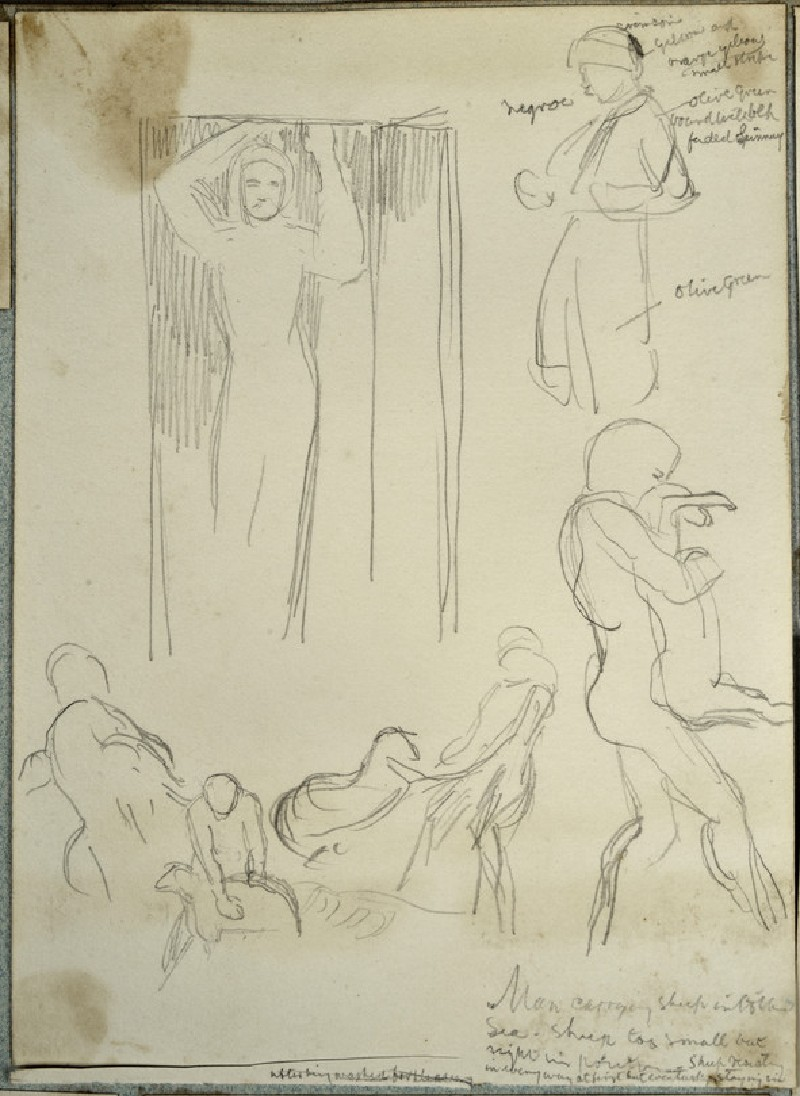 Figure Studies: Man in a Turban, Figure in a Doorway, Men with Sheep