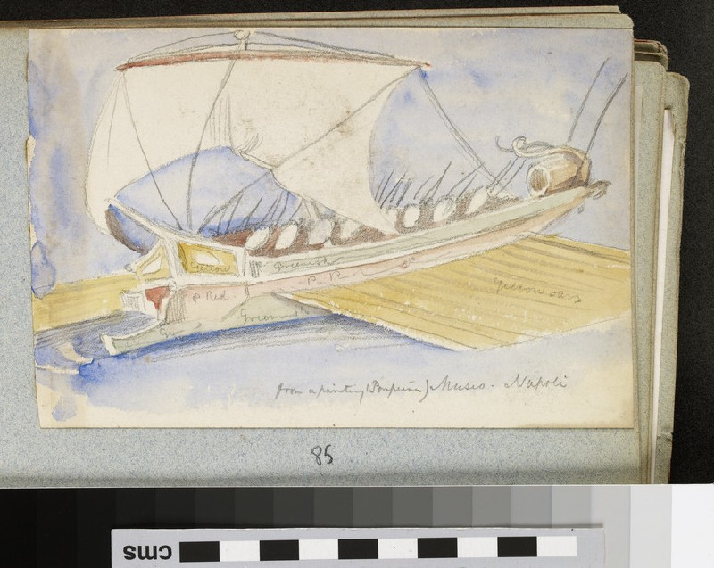 Sketch of a Boat copied from a Pompeian Painting (WA2007.6.85)