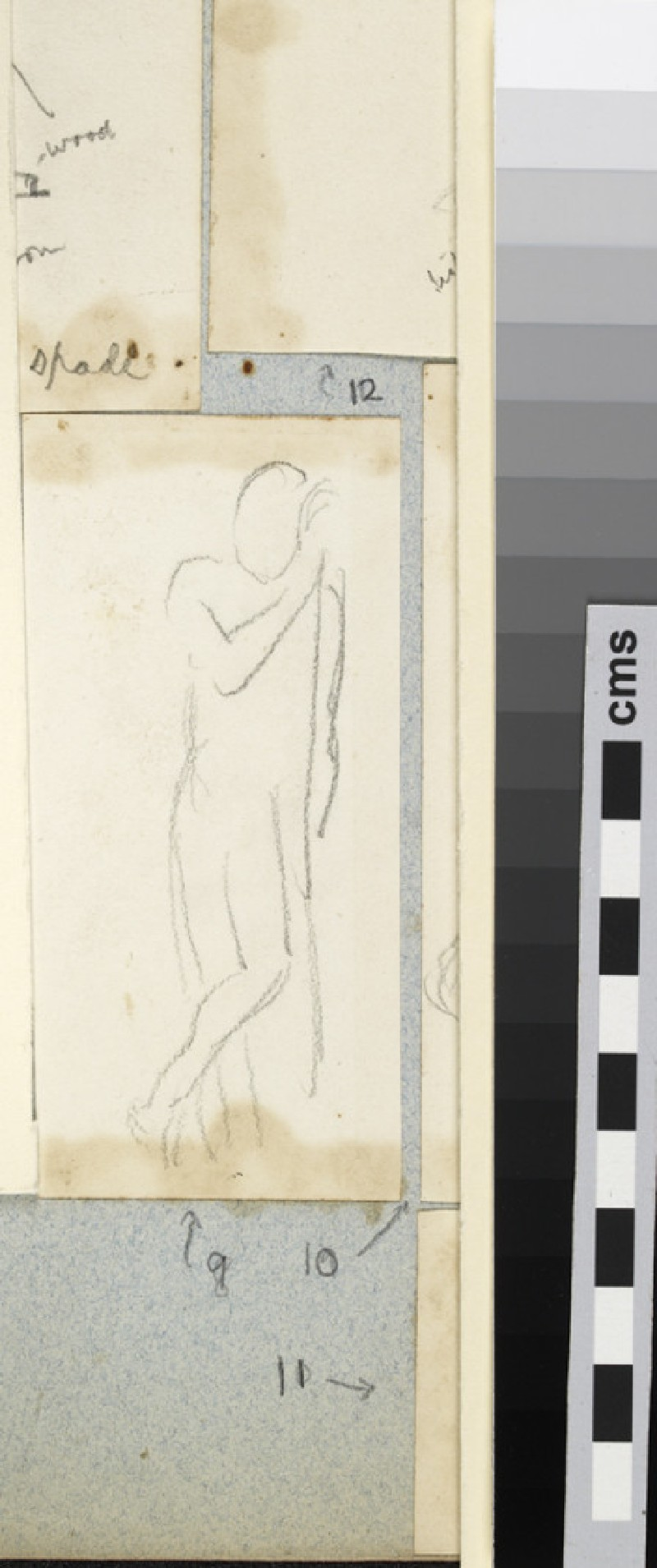 Life Study of a Male Figure leaning against a Wall