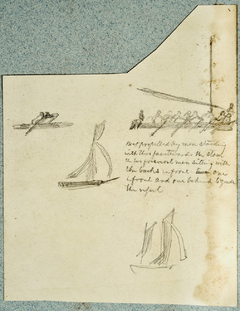 Studies of two Sailing Boats and two Rowing Boats