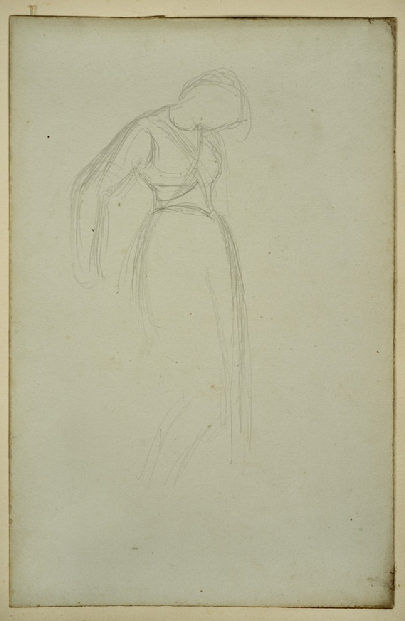 Study for the Headpiece to 'The Lady of Shalott'