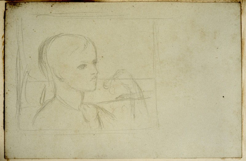 Compositional Study of a Boy eating Cherries (WA2007.7.20)