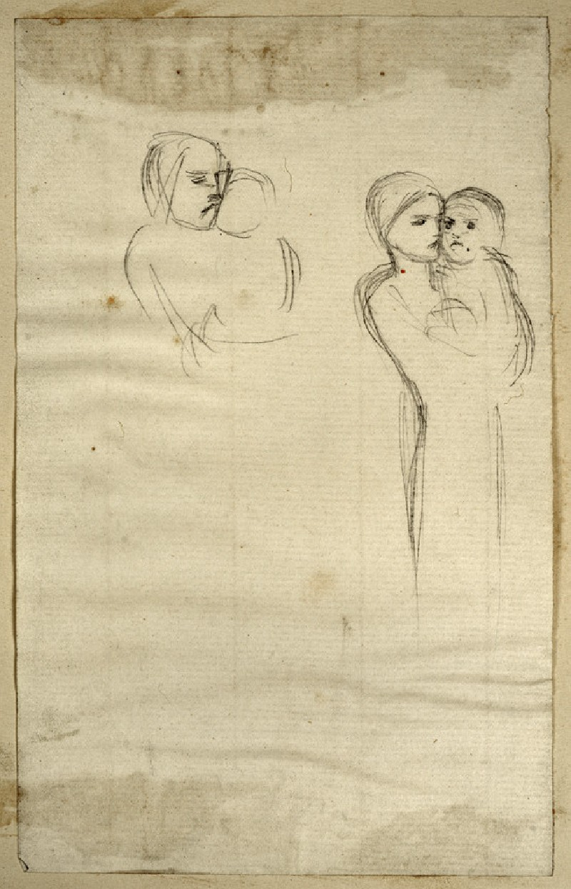 Two Studies of a Woman holding a Baby