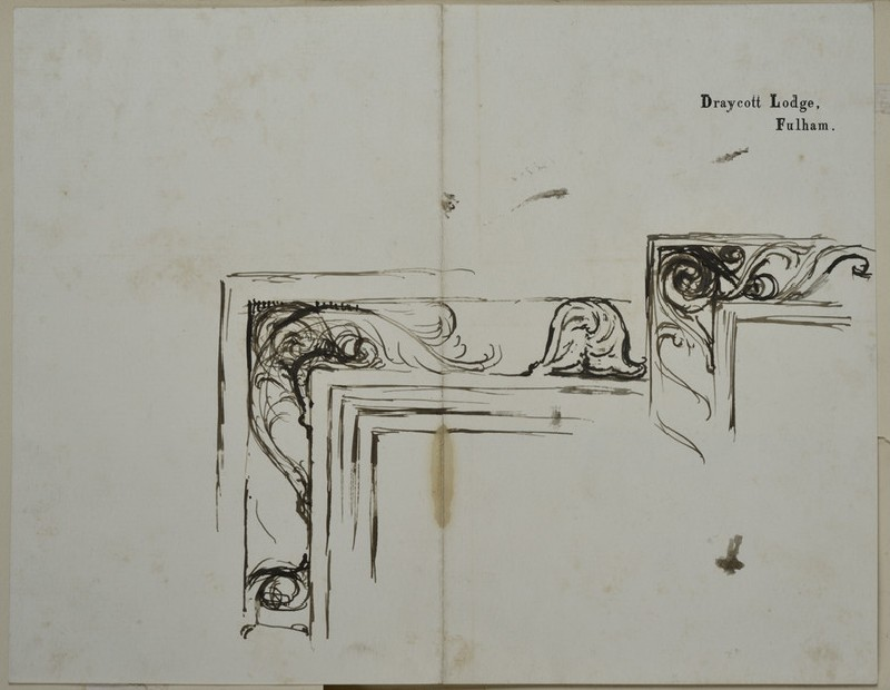 Two Designs for the upper left Corner of a Picture Frame